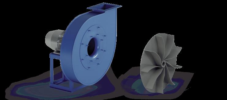 Ventilatori Industriali Centrifughi - Medie e Alte pressioni per Trasporto - Serie ZB