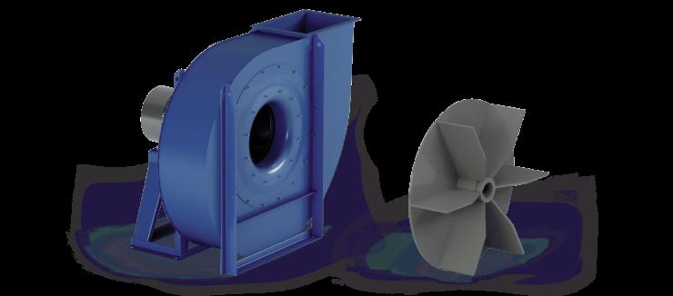 Ventilatori Industriali Centrifughi - Medie e Alte pressioni per Trasporto - Serie ZC
