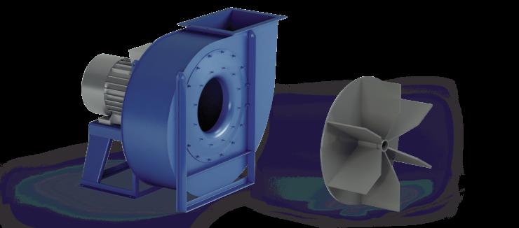 Ventilatori Industriali Centrifughi - Medie e Alte pressioni per Trasporto - Serie ZM