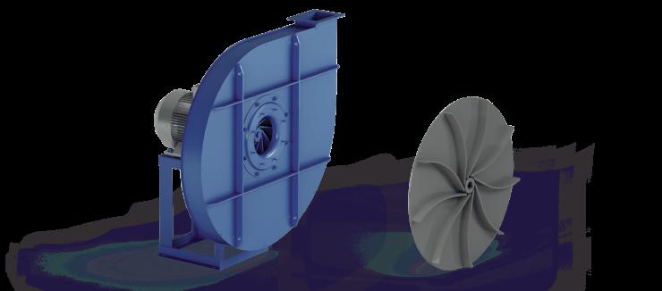 Ventilatori Industriali Centrifughi - Medie e Alte pressioni per Trasporto - Serie ZA