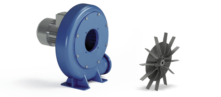 Ventilatori Industriali Centrifughi - Fusioni - Serie P