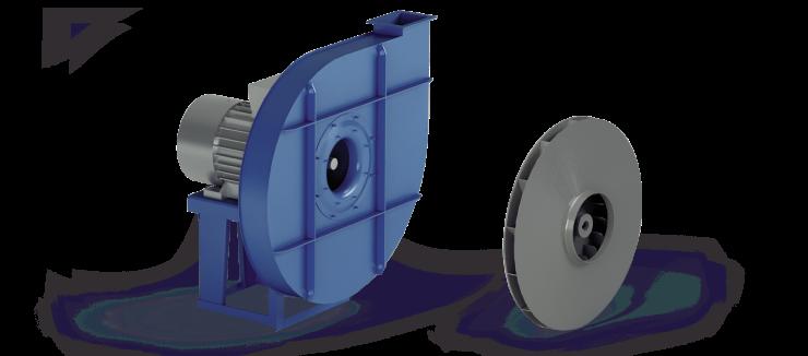 Ventilatori Industriali Centrifughi - Alta Pressione Negativi - Serie VP/N