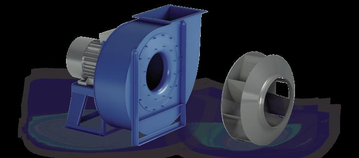 Ventilatori Industriali Centrifughi - Media Pressione - Serie RM