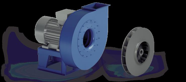Ventilatori Industriali Centrifughi - Alta Pressione Negativi - Serie VI/N