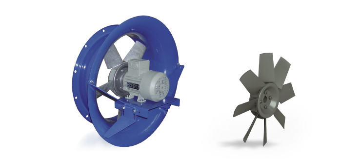 Ventilatori Industriali Assiali Elicoidali - Diretti - Serie EV