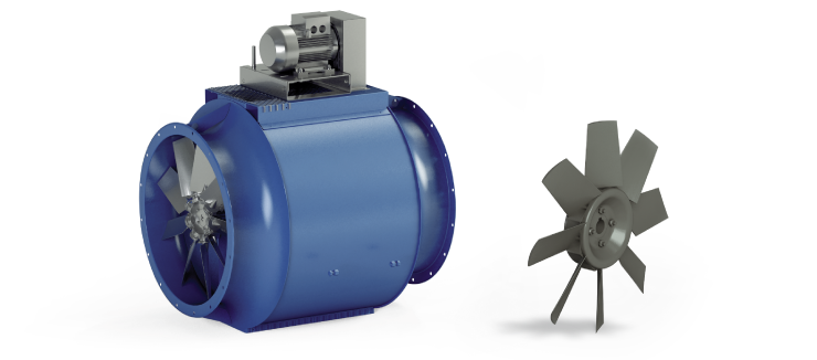 Ventilatori Industriali Assiali Elicoidali - Trasmissione - Serie EG