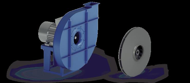 Ventilatori Industriali Centrifughi - Alta Pressione Positivi - Serie VP/P