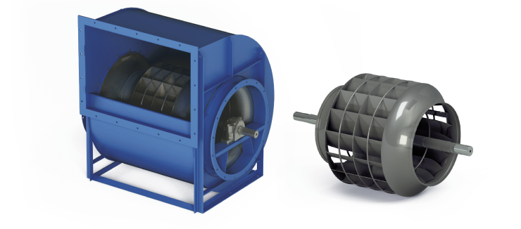 Ventilatori Industriali Centrifughi - Bassa Pressione - Serie RLD