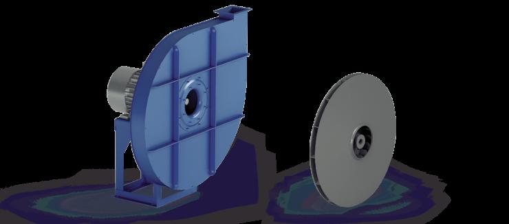 Ventilatori Industriali Centrifughi - Alta Pressione Positivi - Serie VC/P