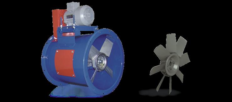 Ventilatori Industriali Assiali Elicoidali - Trasmissione - Serie ET