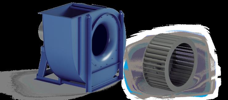 Ventilatori Industriali Centrifughi - Bassa Pressione - Serie CA