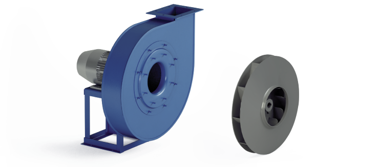 Ventilatori Industriali Centrifughi - Alta Pressione Negativi - Serie VM