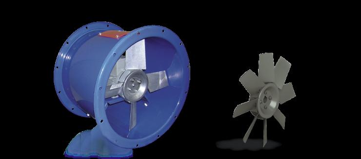 Ventilatori Industriali Assiali Elicoidali - Diretti - Serie EI
