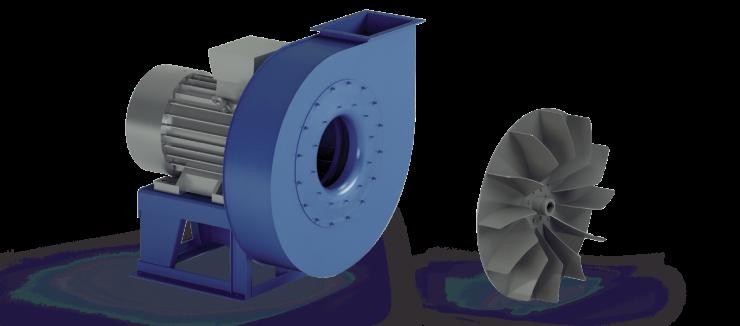 Ventilatori Industriali Centrifughi - Medie e Alte pressioni per Trasporto - Serie ZD