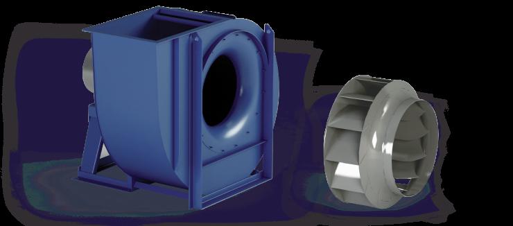 Ventilatori Industriali Centrifughi - Media Pressione - Serie RH